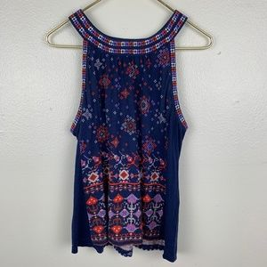 Urban Outfitters Pattern Embroidered Tank